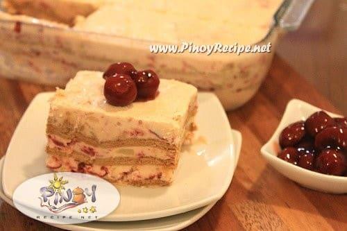 pineapple cherry icebox cake