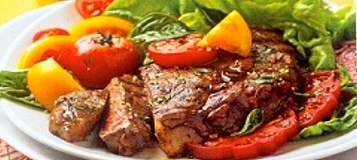 grilled ribeye steak with tomatoes recipe