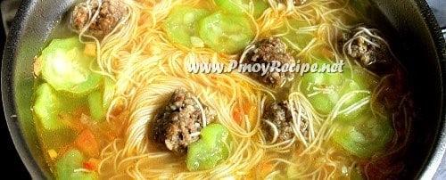 Misua at Patola Soup