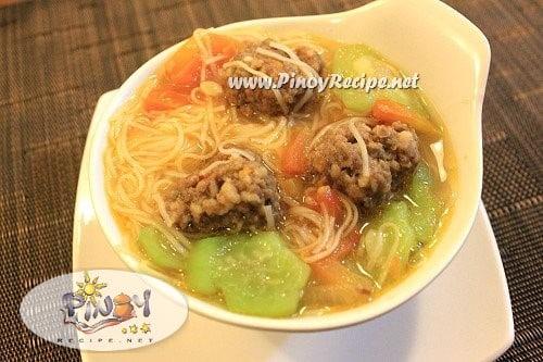 Misua at Patola Soup Recipe