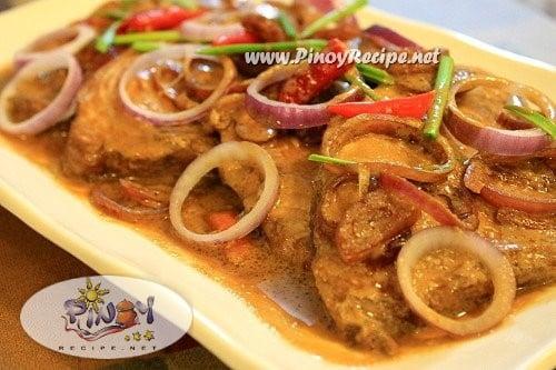 adobong tanigue sa gata recipe