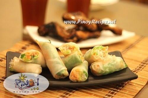 Thai Fresh Spring Rolls recipe