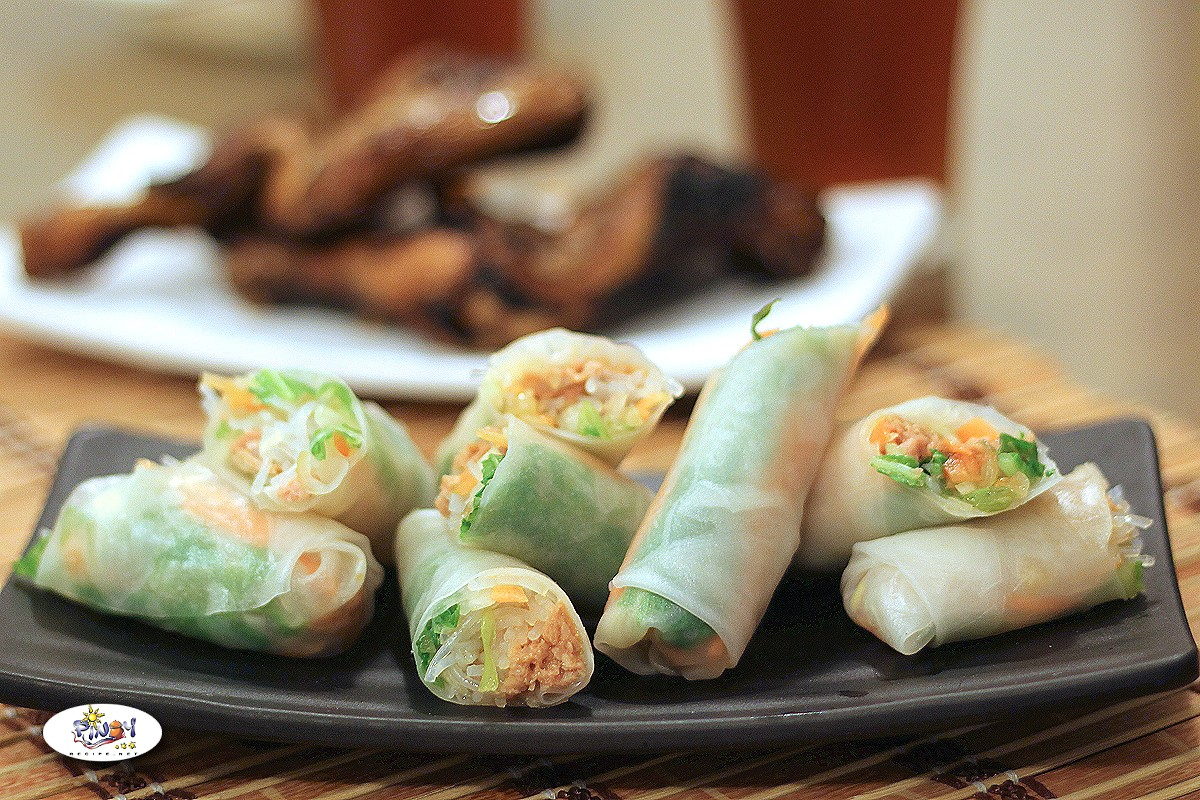 Thai Tuna Fresh Spring Rolls