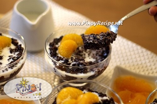 Black Rice Pudding Recipe is a healthy Filipino Kakanin that is sweet ...