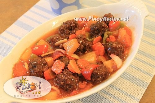 meatballs sweet and sour recipe