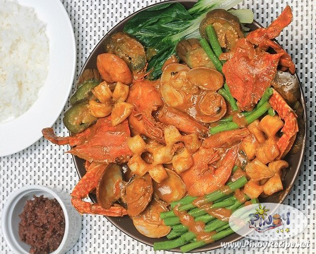 seafoods kare kare recipe by Filipino Recipes Portal