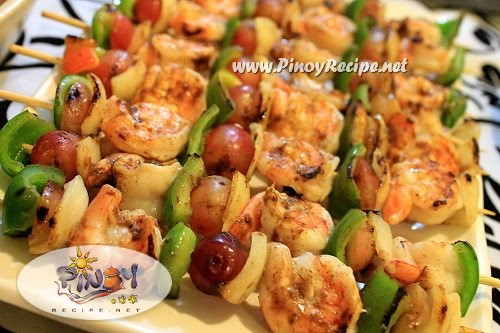 shrimp and grape kebab recipe