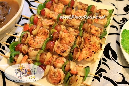 shrimp and grape kebab recipe