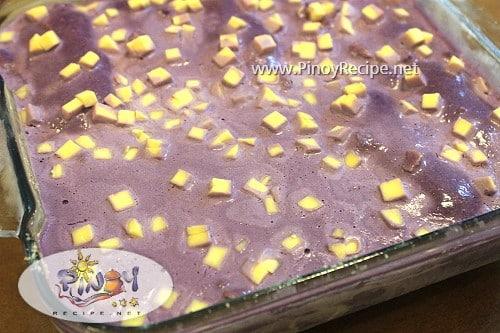 ube cheese icebox cake
