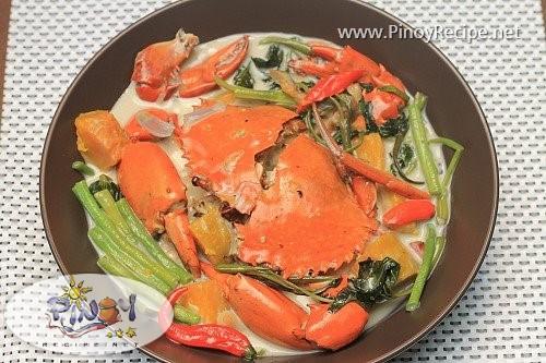 ginataang alimango Filipino recipe