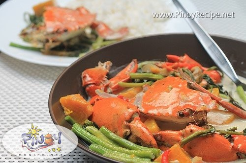 ginataang alimango recipe
