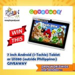 7 inch Android Tablet (i-Techie) Giveaway (Closed)