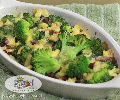 Cheesy Bake Broccoli Recipe