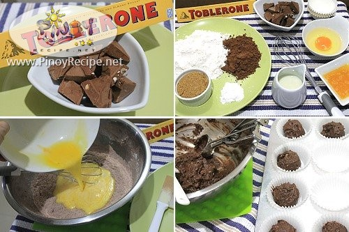 toblerone muffins procedure