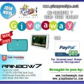 ME Rainbow 7 Quad Core Tablet giveaway