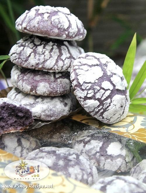 Ube Crinkles cookies recipes