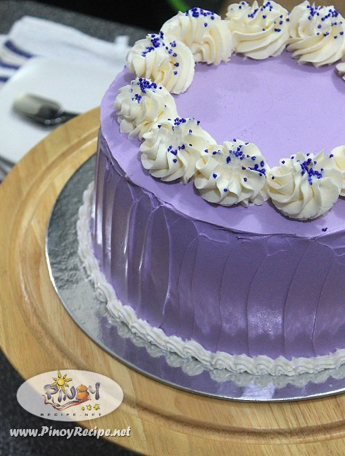 Filipino Cake Recipes With Pictures : Ube Macapuno Cake Recipe - Filipino Recipes Portal