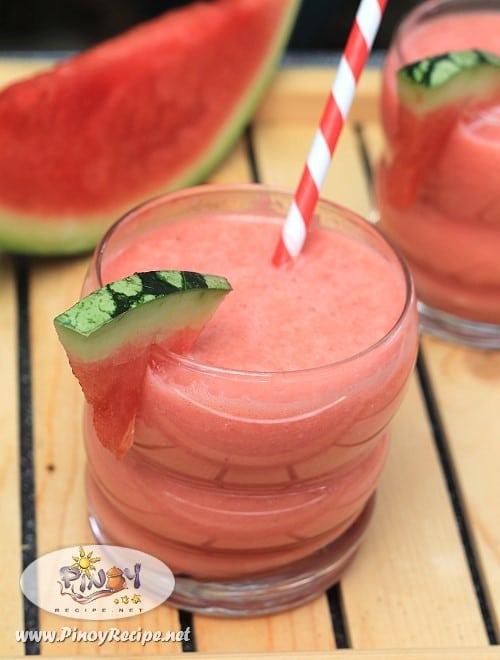 Watermelon Banana Yogurt Smoothie Recipe