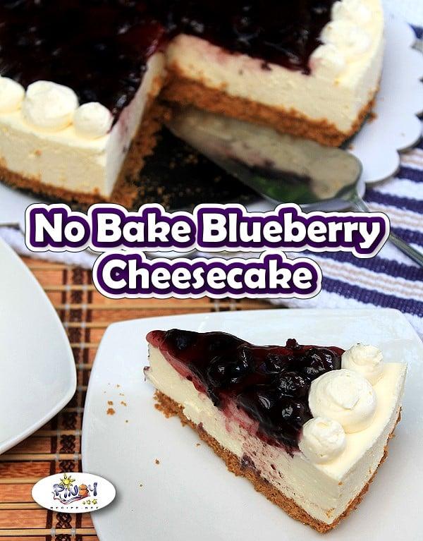 No Bake Blueberry Cheesecake Dessert