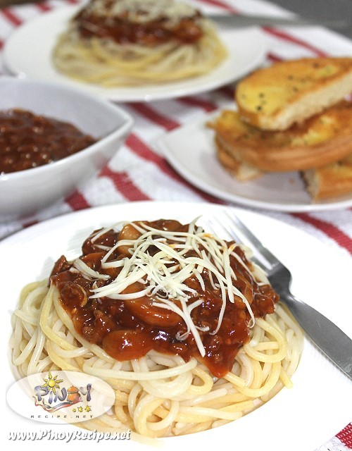 Beef Mushroom Spaghetti Recipe