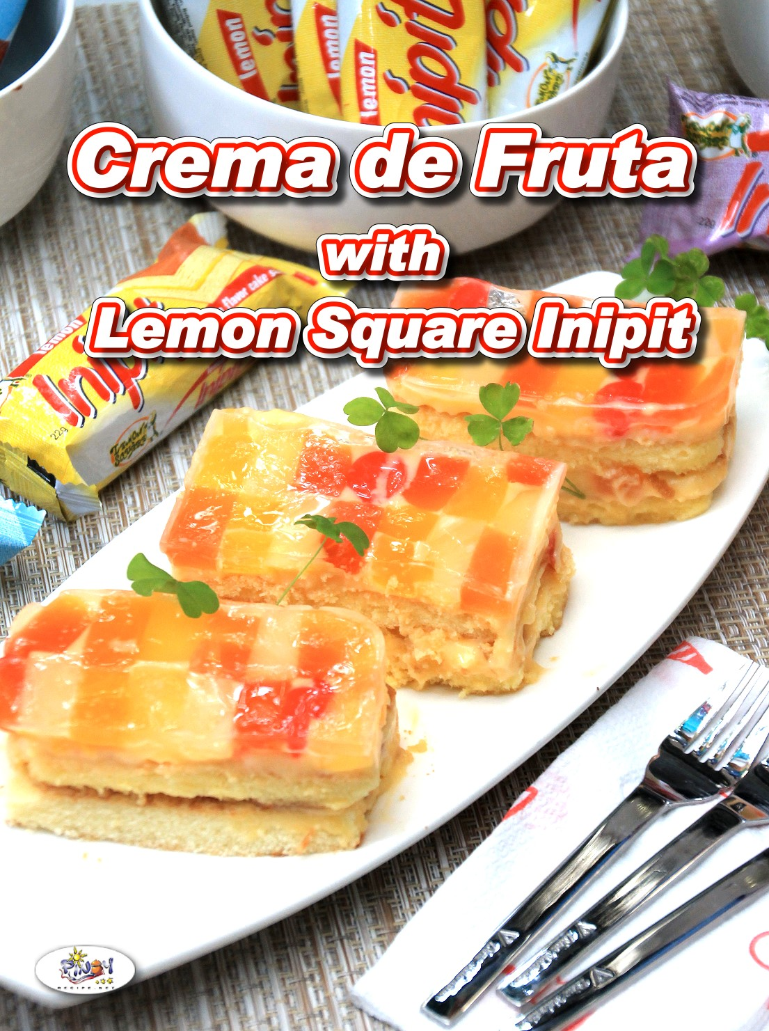 Crema de Fruta Lemon Square Inipit Recipe