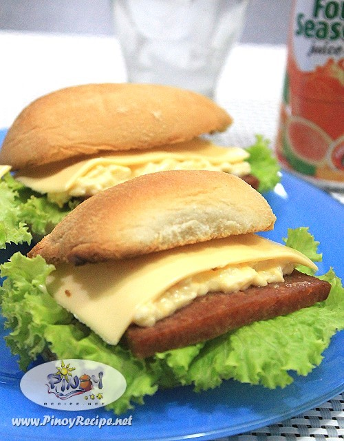 Spam Egg Salad and Cheese Pandesal Sandwich Recipe by Filipino Recipes ...