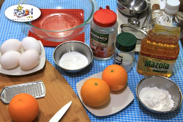 Ingredients of Orange Sponge Cake