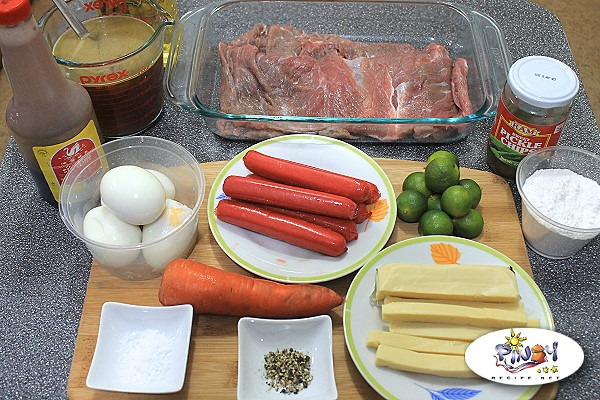 Beef Morcon Ingredients