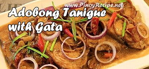 Adobong Tanigue sa Gata Recipe