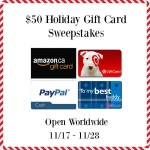 Join our $50 Holiday Gift Card Sweepstakes