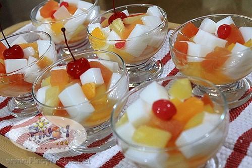 Agar Agar Fruit Cocktail Salad