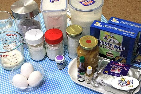 Ube Langka Sponge Cake Ingredients