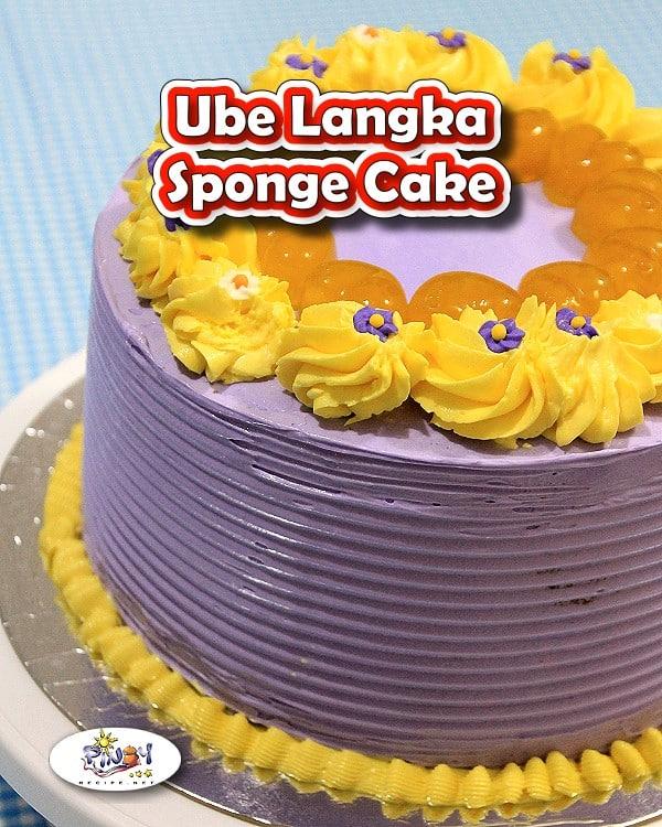 Ube Langka Sponge Cake Recipe