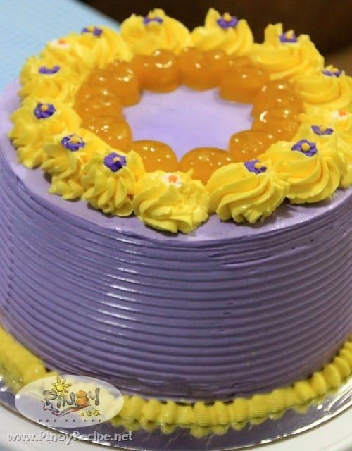 Ube-Langka Sponge Cake Recipe
