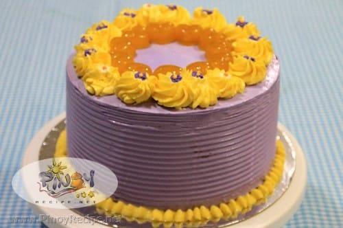 Ube-Langka Sponge Cake