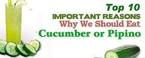 Top 10 Health Benefits of Cucumber or Pipino