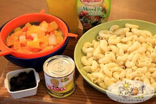 sweet macaroni salad ingredients