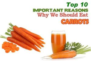 Top ten health benefits of Carrots