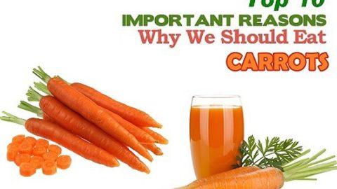 Top ten health benefits of Carrots
