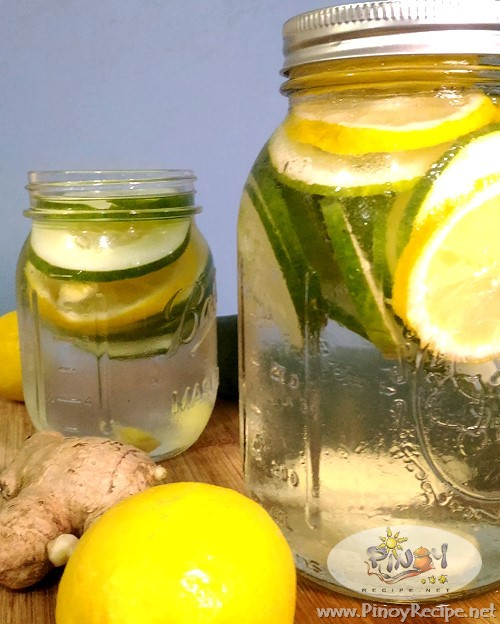 Cucumber Lemon Water for detox