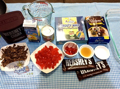 Black Forest Icebox Cake ingredients