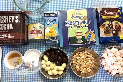 Rocky Road Icebox Cake Ingredients