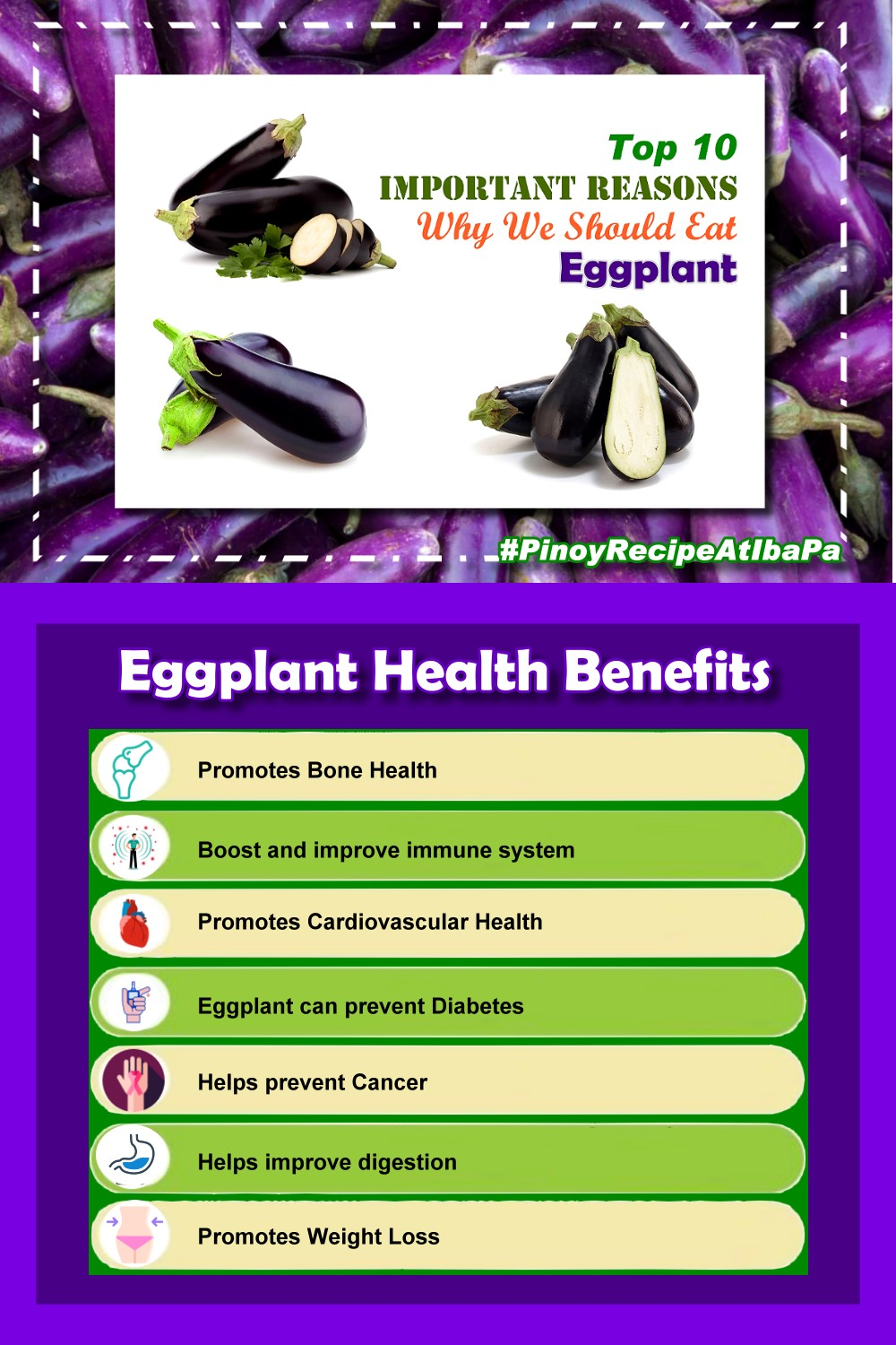 Top 10 Health Benefits OF Eggplant