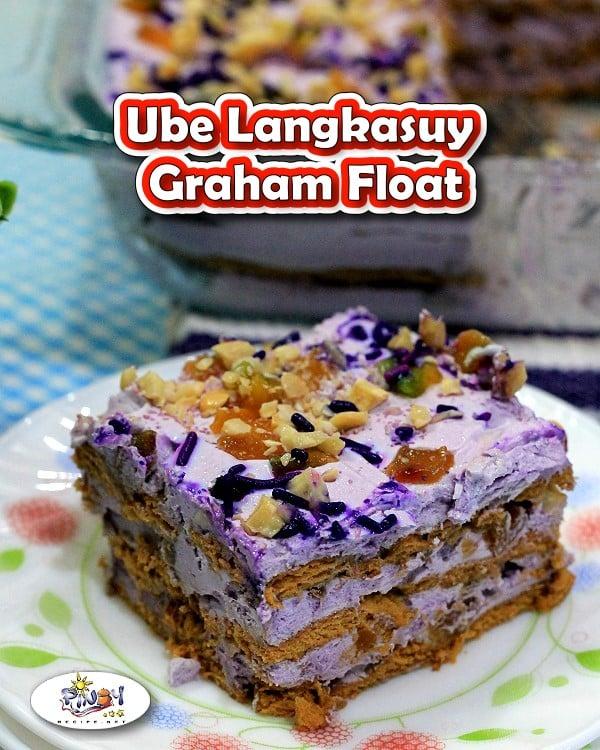 Ube Langkasuy Graham Float for Pinterest
