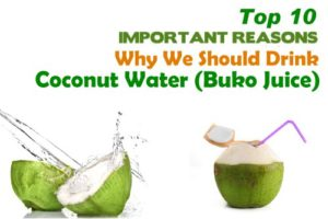 Top 10 health benefits of Coconut Water or Buko Juice