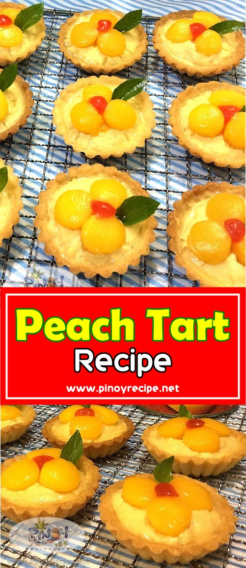 peach tarts for pinterest