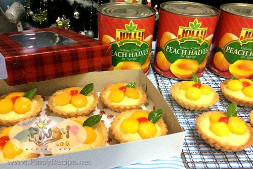 peach tarts from Jolly Peach Halves