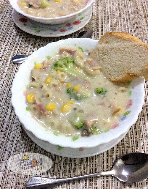 Bacon and Broccoli Mushroom Soup