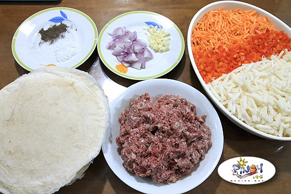Ingredients of Lumpiang Singkamas