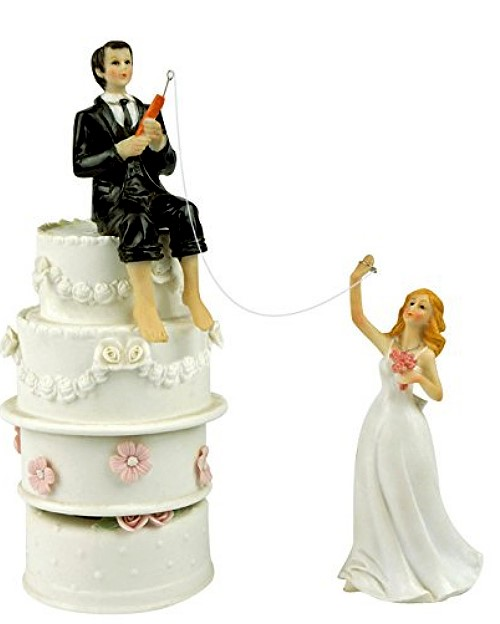 Funny Wedding Toppers - Hooked on Love